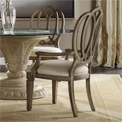Hooker Furniture Solana Dining Arm Chair in Light Oak