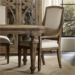 Hooker Furniture Solana Host Chair in Light Oak
