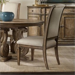 Hooker Furniture Solana Upholstered Dining Side Chair in Light Oak