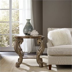 Hooker Furniture Solana Lamp Table in Light Oak