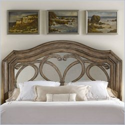 Hooker Furniture Solana Mirrored Panel Headboard in Light Oak - California King-King