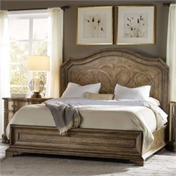 Hooker Furniture Solana Panel Bed in Light Oak - Queen