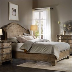 Hooker Furniture Solana Sleigh Bed in Light Oak - Queen