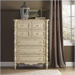 Hooker Furniture Arbor Place 5-Drawer Chest in Antique Chipped White