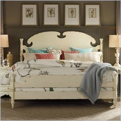 Hooker Furniture Arbor Place Panel Bed in Antique Chipped White - Queen