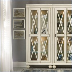 Hooker Furniture Beaufort House 2-Door Bunching Curio Cabinet in Beige