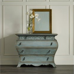 Hooker Furniture 4-Drawers Bombay Accent Chest in Weathered Blue