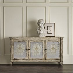 Hooker Furniture 3-Door Mirrored Accent Chest in Rustic Birch