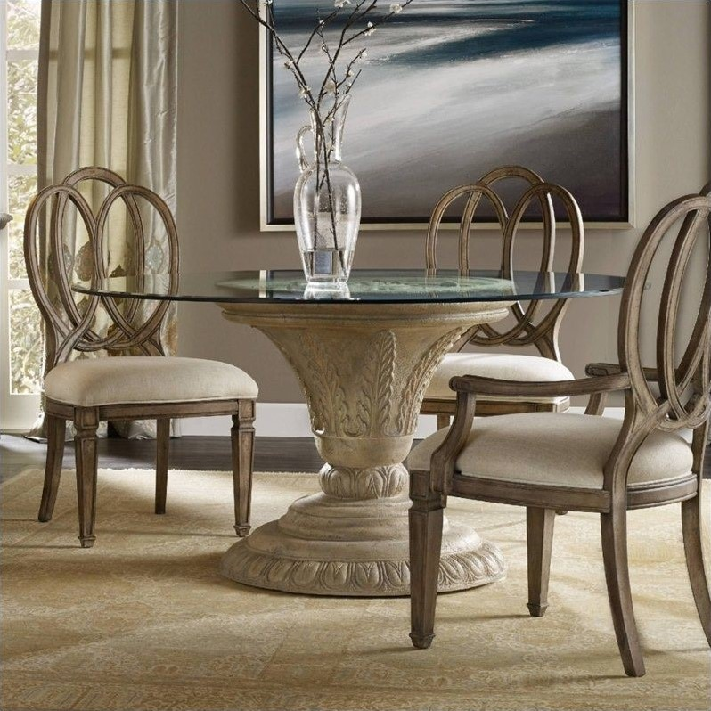 Hooker Furniture Solana Round 60 Quot Glass Top Dining Table