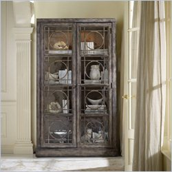 Hooker Furniture Melange Ventura Display Cabinet in Weathered Cherry