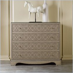 Hooker Furniture Melange 4-Drawer Resplendent Accent Chest in Light Taupe