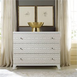 Hooker Furniture Melange 3-Drawer Descanso Accent Chest in Brilliant White