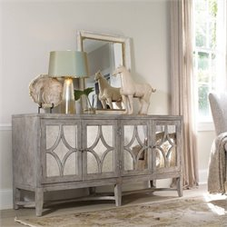 Hooker Furniture Melange 4-Door Diamante Console in Weathered Gray