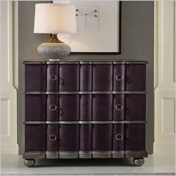 Hooker Furniture Melange 3-Drawer Mila Croc Leather Chest in Faux Eggplant