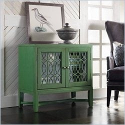 Hooker Furniture Melange 2-Door Emerald Fretwork Chest in Emerald