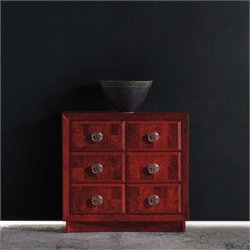 Hooker Furniture Melange 6-Drawer Accent Chest in Poppy Red