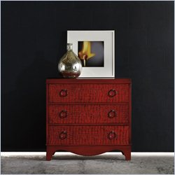 Hooker Furniture Melange 3-Drawer Semblance Chest in Red