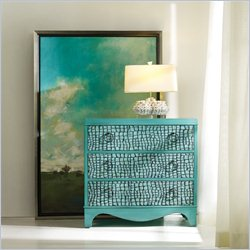 Hooker Furniture Melange 3-Drawer Semblance Chest in Aqua