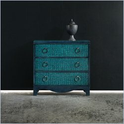 Hooker Furniture Melange 3-Drawer Semblance Chest in Teal