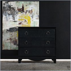 Hooker Furniture Melange 3-Drawer Semblance Chest in Black