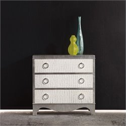 Hooker Furniture Melange 3-Drawer Semblance Accent Chest in Silver