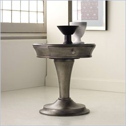 Hooker Furniture Melange Affinity Pedestal Table in Silver Finish
