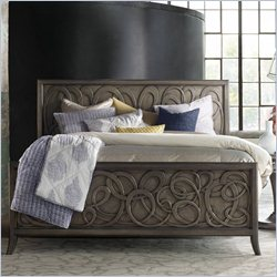 Hooker Furniture Melange Affinity Panel Bed in Weathered Brown - Queen