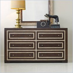 Hooker Furniture Melange 6-Drawer Bukhara Dresser in Walnut