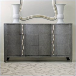 Hooker Furniture Melange 6-Drawer Lana Dresser in Gray