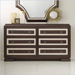 Hooker Furniture Melange 6-Drawer Albion Dresser in Cherry and Cream