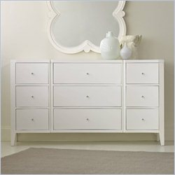 Hooker Furniture Melange 9-Drawer Quatrefoil Dresser in White