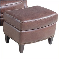 Hooker Furniture Leather Ottoman in La Pedrera Pasaje