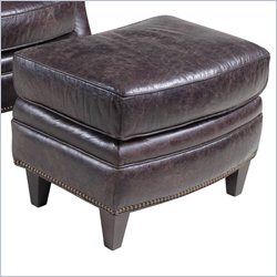Hooker Furniture Leather Ottoman in Hollister Mountain