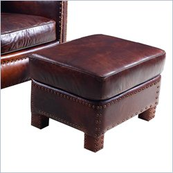 Hooker Furniture Leather Ottoman in Parthenon Temple