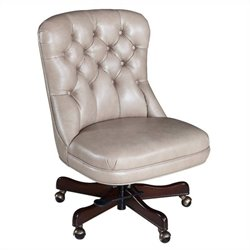 Hooker Furniture Executive Leather Swivel Tilt Office Chair in Empyrean Tweed