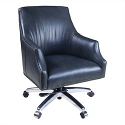 Hooker Furniture Executive Leather Swivel Tilt Office Chair in Maximus Chariot