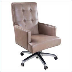 Hooker Furniture Executive Leather Swivel Tilt Chair in Maximus Empire