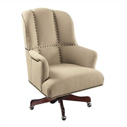 Hooker Furniture Executive Swivel Tilt Chair in Larkin Oat