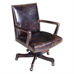 Hooker Furniture Executive Leather Swivel Tilt Office Chair in Imperial Regal