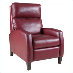 Hooker Furniture Leather Recliner Chair in Nouveou Klimt