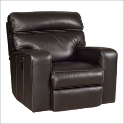 Hooker Furniture Leather Glider Recliner in Bermuda Black