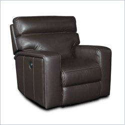 Hooker Furniture Leather Power Recliner in Bermuda Dark Brown