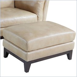 Hooker Furniture Leather Ottoman in Zorra Canela