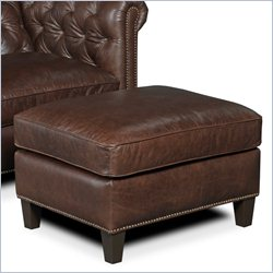 Hooker Furniture Leather Ottoman in Village Chocolate