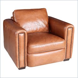 Hooker Furniture Leather Stationary Chair in Parati Cabore