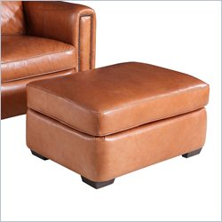Hooker Furniture Leather Ottoman in Parati Cabore