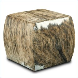 Hooker Furniture HOH Leather Cube Ottoman in Light Brown