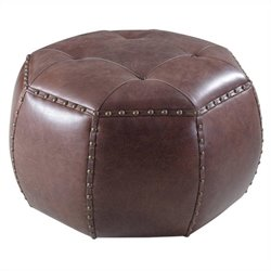 Hooker Furniture Leather Octogonal Ottoman in La Pedrera Pasaje