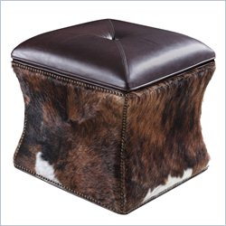 Hooker Furniture Leather Lid HOH Ottoman in La Rabida Ranch