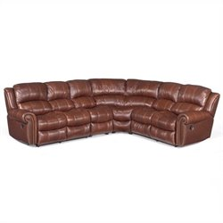 Hooker Furniture 4-Piece Leather Sectional in Cognac